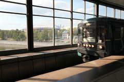Estação de metro dos montes do pardal em Moscou, Rússia Imagens de Stock
