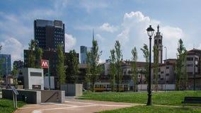Estação de metro em Milão fotos de stock royalty free