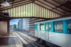 Estação de metro em Paris fotos de stock