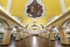 A estação de metro Komsomolskaya em Moscovo, Rússia Fotos de Stock Royalty Free