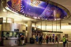 34a estação de metro New York de Hudson Yards da rua Foto de Stock