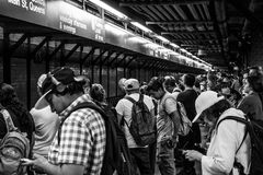 34a estação de metro New York de Hudson Yards da rua Fotografia de Stock Royalty Free