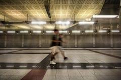 Estação de metro subterrânea em Atenas, Grécia Imagens de Stock