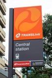 Estação de metro urbana da estação central em Brisbane Austrália Imagens de Stock