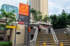 Estação de metro urbana da estação central em Brisbane Austrália Fotos de Stock