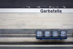Estação de metro vazia Fotografia de Stock Royalty Free