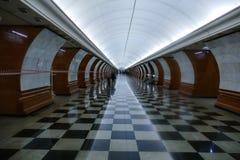 Estação de metro - Victory Park, o interior Foto de Stock Royalty Free