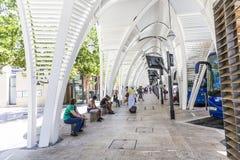 Estação de ônibus moderna Gare Routiere em Aix en Provence Fotografia de Stock