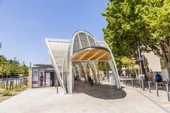 Estação de ônibus moderna Gare Routiere em Aix en Provence Fotos de Stock