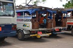 Estação de ônibus na cidade de pedra, Zanzibar imagens de stock royalty free