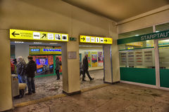 estação de ônibus Riga para dentro Imagem de Stock Royalty Free