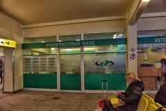 estação de ônibus Riga para dentro Imagens de Stock Royalty Free