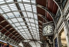 Estação de Paddington em Londres Foto de Stock Royalty Free