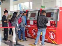 Estação de Palmerah, Jakarta fotografia de stock royalty free