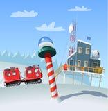 Estação de pesquisa polar antártica Imagem de Stock