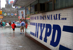Estação de polícia de NYPD, Times Square imagem de stock
