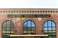 Estação de Poughkeepsie - estrada de ferro da central de New York foto de stock