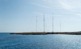 Estação de rádio, cabo Greco, Chipre Imagens de Stock Royalty Free