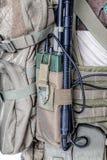 Estação de rádio do exército no malote Imagens de Stock Royalty Free