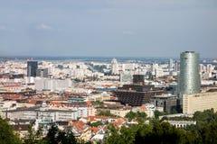 Estação de rádio nacional eslovaca em Bratislava Fotografia de Stock Royalty Free