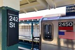Estação de 242 ruas - metro de NYC Fotografia de Stock Royalty Free