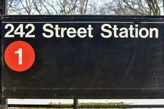 Estação de 242 ruas - metro de NYC Fotografia de Stock