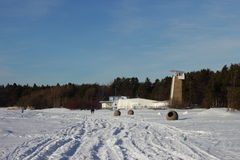 Estação de salvamento com uma torre Imagem de Stock
