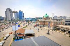 Estação de Seoul vista de Seoullo 7017 em Coreia do Sul Fotografia de Stock