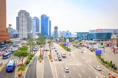 Estação de Seoul vista de Seoullo 7017 em Coreia do Sul Foto de Stock