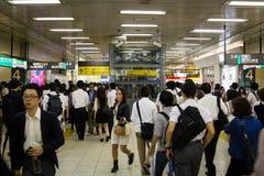 Estação de Shinjuku, Tóquio, Japão, 25-09-2014 Fotos de Stock Royalty Free