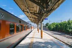 Estação de Taichung, uma estação de trem de taichung a Alishan na estrada de ferro de Taiwan em um dia ensolarado fotografia de stock royalty free