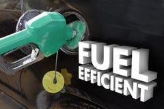 Estação de tanque econômica em combustível do enchimento de poder da gasolina das palavras Fotos de Stock Royalty Free