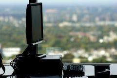 Estação de trabalho com uma vista Foto de Stock Royalty Free