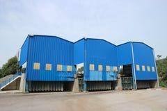 Estação de transferência Waste para resíduos sólidos municipais misturados Fotografia de Stock