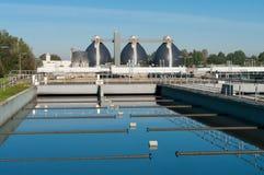 Estação de tratamento de água Waste fotografia de stock royalty free
