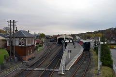 Estação de trem de Boness e de Kinneil em Escócia Imagens de Stock Royalty Free