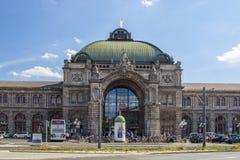 Estação de trem central de Nuremberg, Alemanha, 2015 Imagens de Stock Royalty Free