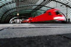 Estação de trem central em Berlim, Foto de Stock