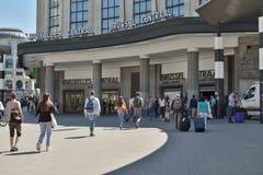 Estação de trem central em Bruxelas Fotografia de Stock