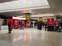 Estação de trem central em Roma, Itália fotografia de stock royalty free