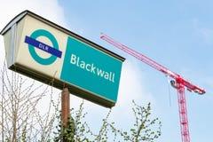 Estação de trem clara das zonas das docas de Blackwall Fotografia de Stock