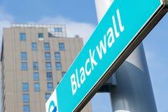 Estação de trem clara das zonas das docas de Blackwall Imagens de Stock Royalty Free