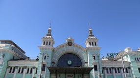 Estação de trem de Belorussky-- é uma das nove estações de trem principais em Moscou, Rússia Imagem de Stock