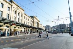 Estação de trem de Genebra-Cornavin Foto de Stock