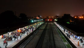 Estação de trem de Ghandinagar na Índia de Jaipur Foto de Stock Royalty Free