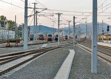 Estação de trem de Graz Hauptbahnhof, Áustria Imagem de Stock