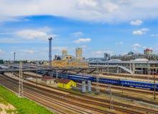 Estação de trem de Kharkiv, Ucrânia, Kharkiv Fotos de Stock