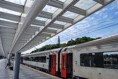 Estação de trem de Liège-Guillemins, Bélgica Fotos de Stock Royalty Free