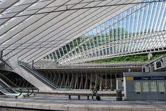 Estação de trem de Liège-Guillemins, Bélgica imagem de stock