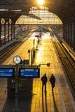 Estação de trem de Lubeque Hauptbahnhof, Alemanha Imagens de Stock Royalty Free